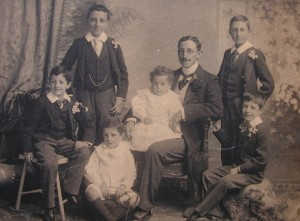 Sons Tancred, Joseph, Arthur, Richard, Edward, Alfred and Edgar on the Silver Wedding of Edward and Maria - 15th January 1898